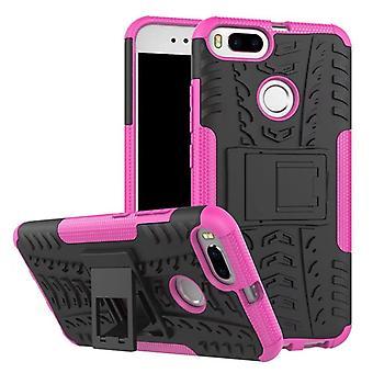 Nex Style Hybrid Case 2teilig Outdoor Pink für Xiaomi Mi 5X Mi A1 Tasche Hülle Cover Schutz