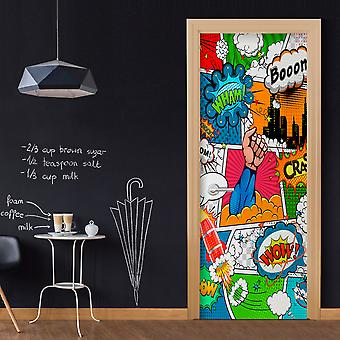 Photo wallpaper on the door - Comic World