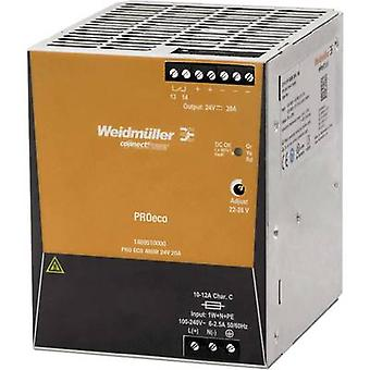 Weidmüller PRO ECO 480W 24V 20A Schienennetzteil (DIN) 24 V DC 20 A 480 W 1 x