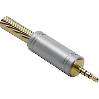 BKL électronique 1103086 2,5 mm jack audio Plug, droite nombre de broches: 4 stéréo Gold 1 PC (s)