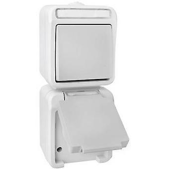 Peranova 102441 Wet room switch product range Switch/socket combo Pera Light grey, Dark grey