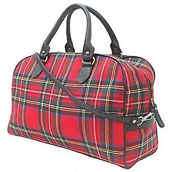 Harris Tweed über Nacht Handtasche (Royal Stewart)