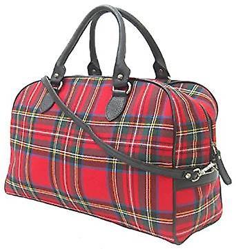 Harris Tweed Overnight Handbag (Royal Stewart)