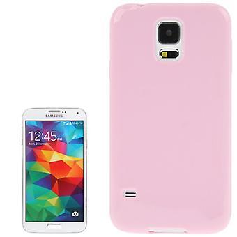 Tapauksessa TPU suojakotelo mobiili Samsung Galaxy S5 / S5 neo vaaleanpunainen