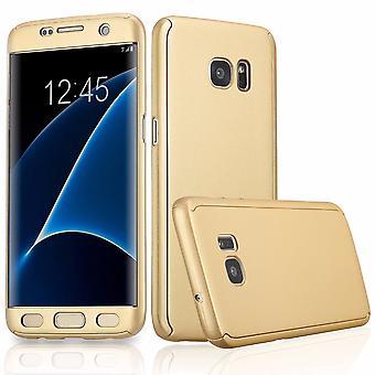 Completo cover 360 caso mobile protezione imbottita con pellicola proteggi schermo per Samsung Galaxy S6 bordo in oro tutto intorno a protezione cellulare caso copertura caso