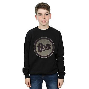 David Bowie Boys Circle Logo Sweatshirt