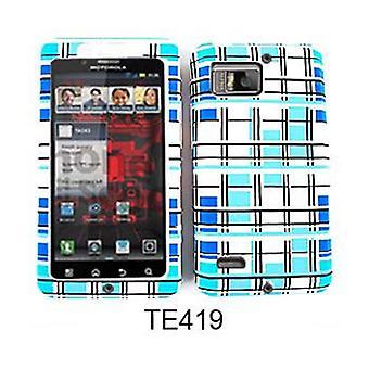 Unlimited Cellular Fit On Jelly Case pour Motorola XT875/Droid Bionic (Blocs bleus et blancs)