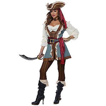 Jewel Of The Sea Deluxe Caribbean Pirate Swashbuckler Buccaneer Womens Costume