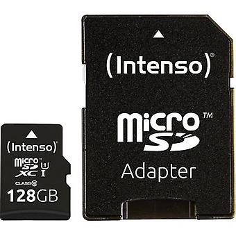 Intenso Premium microSDXC kártya 128 GB Class 10, UHS-I Incl. SD adapterrel