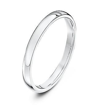 Star Wedding Rings 18ct White Gold Heavy Court Shape 2mm Wedding Ring