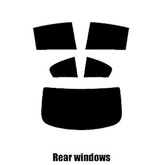 Pre gesneden venster tint - BMW 6 serie Gran Coupe (F06) - 2013 en nieuwer - achterzijde windows