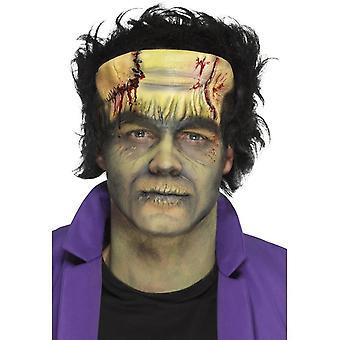 Smiffys skum Latex Monster Head protese, Green, med lim.