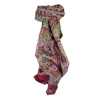 Mûrier rouge de Chaya soie longue écharpe traditionnelle par Pashmina & soie
