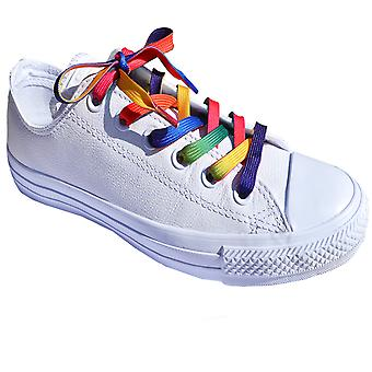 Rainbow Flat Trainer Laces