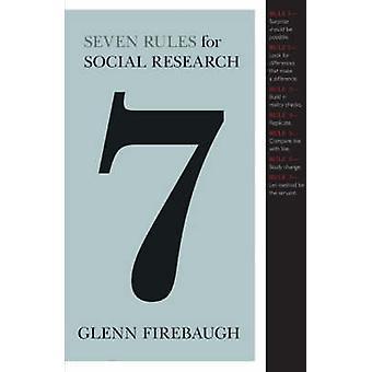 سبع قواعد للبحوث الاجتماعية من جلين فايرباوغ-بو 9780691135670