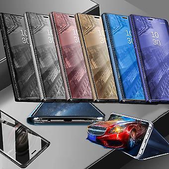 Für Samsung Galaxy S10 Lite / S10E G970F 5.8 Zoll Clear View Spiegel Smart Cover Silber Tasche Hülle Case Wake UP