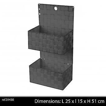 Hengende lagring 2 Pocket grå 25 X 15 X 51