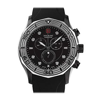 Swiss Military Hanowa Mens Quartz Watch with rubber strap Analogueico 06-4273.13.007