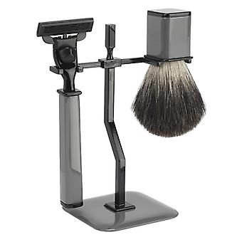FMG 3 Piece Shaving Set Square Mach3 - Grey
