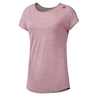 تجريب ريبوك جاهزة أكتيفتشيل النسائي السيدات لياقة القميص المحملة الوردي
