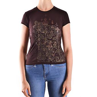 John Richmond Ezbc082101 Women's Brown Viscose T-shirt