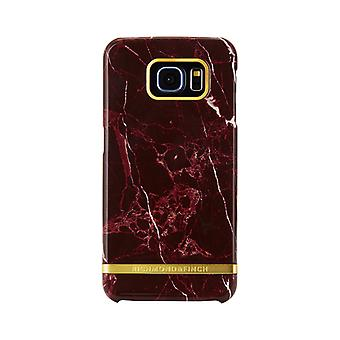 Richmond & Finch shells voor Samsung Galaxy S6 Edge-rood marmer