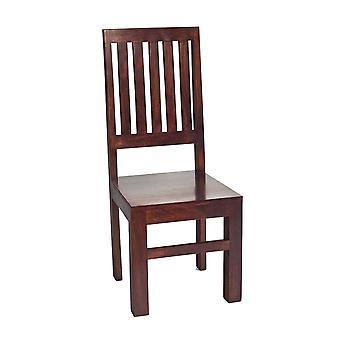 Phoenix Dark Mango High Slatback Chair  - A Pair