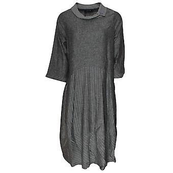 Latte Long Sleeve Roll Neck Loose Fit Dress