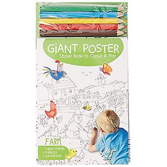 Giant Poster Colouring Book - Farm by Yoyo Books - 9789463602778 Book
