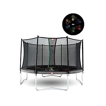 BERG Favorit Regular 430 Levels 14ft Trampoline + Safety Net Comfort Grey