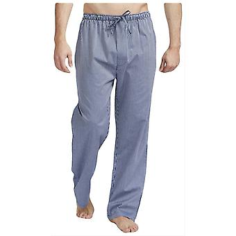 British Boxers Minister Stripe Pyjama Trousers - Navy/Silver