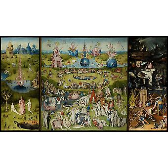 حديقة الرغبات ، وعلامة الرحلة ، بوش هيرومسمي ، 60x34cm
