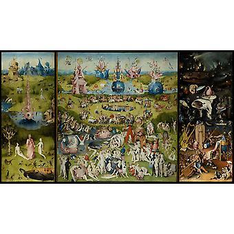 The garden of the desires, trip sign, Hieronymous Bosch, 60x34cm