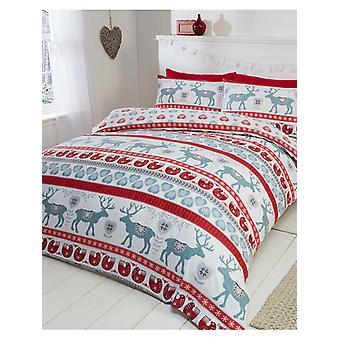 Scandi Natale spazzolato Cotton Duvet Cover Set