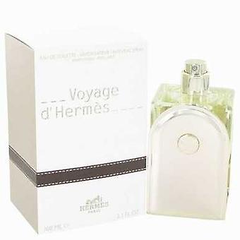 Voyage D'hermes door Hermes Eau de toilette spray navulbare 3,3 oz (mannen) V728-467288