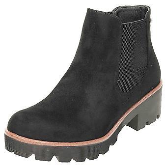 Rieker chunky Chelsea Suede ankel støvler 99284-00