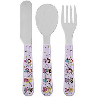 Little Stars Childrens/Kids Princess Cutlery Set
