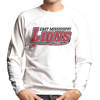 East Mississippi Community College Lions Dark Tail Logo Men's Sweatshirt