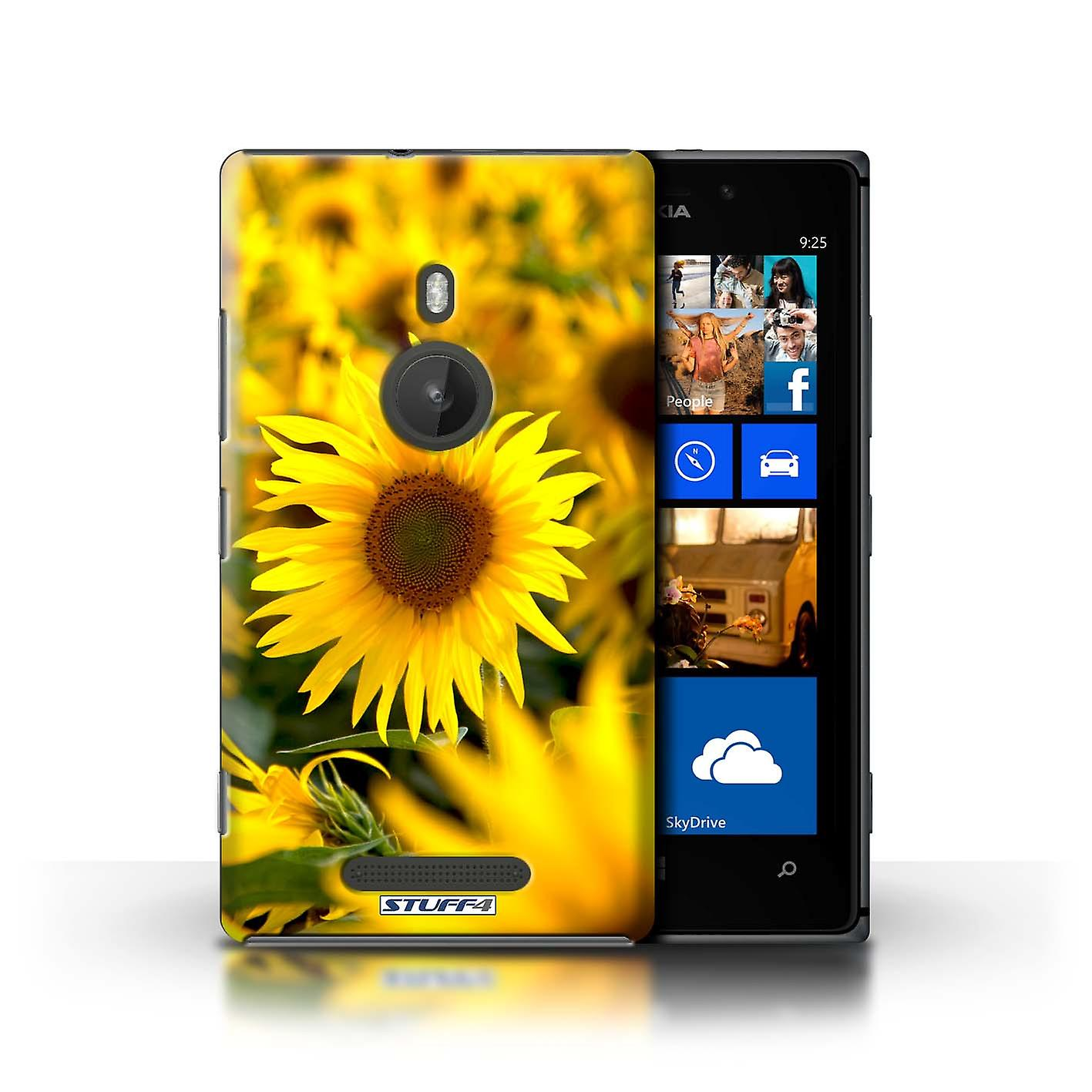 STUFF4 Case/Cover for Nokia Lumia 925/Flower Fields/Floral Garden Flowers