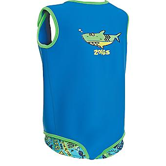 Zoggs Kids 100% Neoprene Deep Sea Baby Wrap Blue Features Fasteners