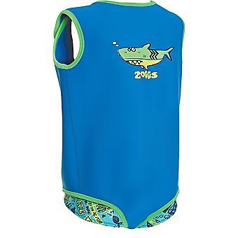 Zoggs bambini 100% Neoprene Deep Sea Baby Wrap blu caratteristiche Fasteners