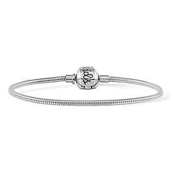 925 Sterling Silver Polerad 19cm Reflektioner Kids Hinged Lås Armband Smycken Gåvor för kvinnor - Längd: 4,25 till 7,75