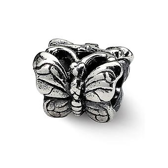 925 Sterling Silver Antiquário Acabamento Reflections SimStars Butterfly Angel Wings Bead Charm Pendant Necklace Jewely Gifts
