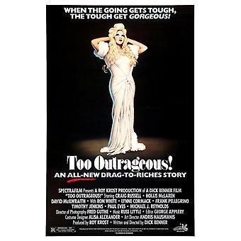 Zu unverschämt (einseitig regelmäßig) Original Kino Poster