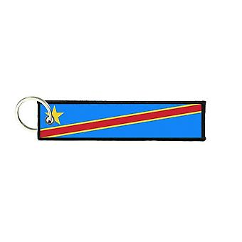 Port Cles Clef Cle Homme Homme Fabric Brode Prints Congo Drc Flag