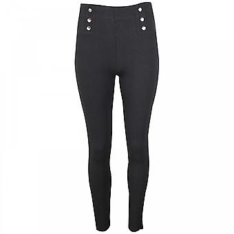 Leo & Ugo Straight Leg Trousers With Button Detail