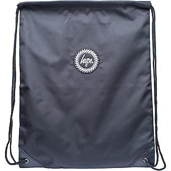 Hype Crest Logo Drawstring Gym Bag Schwarz 31