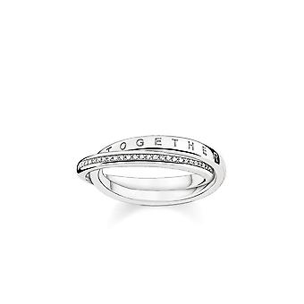 Thomas Sabo Sterling Silver Thomas Sabo Together Forever Ring With Diamond D_TR0018-725-14