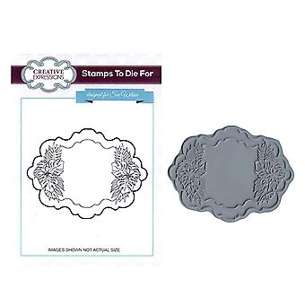 Creative Expressions Pre-Cut Rubber Stamp Sue Wilson UMS608 Palm Spray