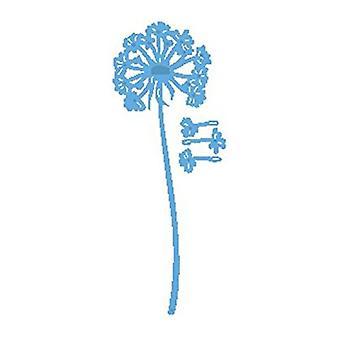 Ontwerp van Marianne Creatables paardebloem sterven, metaal, blauw, 18.6 x 8,4 x 0,2 cm